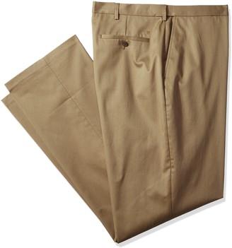 Haggar Men's Big-Tall B&t Premium No Iron Classic Fit Expandable Waist Plain Front