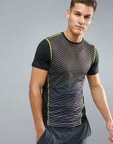 New Look New Look Sport T-shirt With Stripes In Black