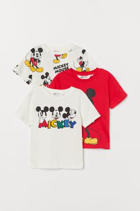 H&M 3-pack Printed T-shirts - White