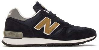 New Balance 670 Suede And Mesh Trainers - Womens - Navy Gold