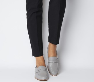 Office Flutter Loafers Grey Leather Rose Gold Rand
