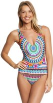 Kenneth Cole Reaction Adventure Awaits Plunge One Piece Swimsuit 8151108