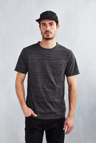 Uo Galaxy Washed Black Pocket T-shirt