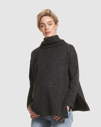 Soon Turtle Neck Knit Poncho