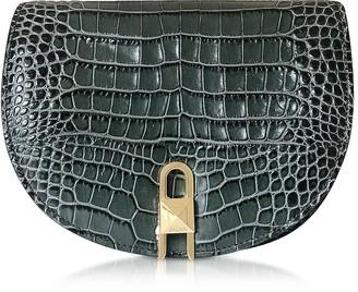 Croco Frida Embossed Leather Crossbody Bag
