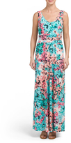 Double V-neck Ruched Maxi Dress