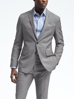Banana Republic Slim Gray Houndstooth Wool Suit Jacket