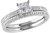 Tevolio Allura 0.3 CT.T.W. Princess Cut Diamond Wedding Ring in 10K White Gold (GH I2:I3)