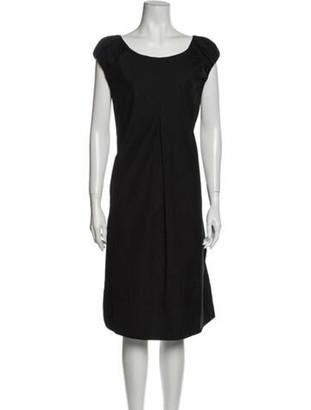 Dolce & Gabbana Bateau Neckline Midi Length Dress Black