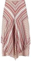 Derek Lam 10 Crosby Printed Asymmetric Silk Skirt