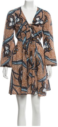 Figue Brown Cotton Dress for Women