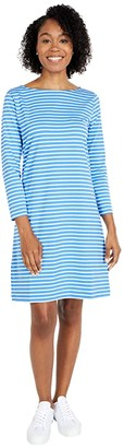 Vineyard Vines Sankaty Boatneck Shift Dress (Bimini Blue/White) Women's Dress
