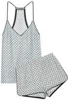Three J NYC Sienna Printed Silk-satin Pajama Set - large