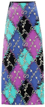 Gucci Printed stretch-cotton midi skirt