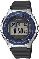 Casio TABLE Illuminator Mens Blue Bezel Black Resin Strap Digital Watch W216H-2AV