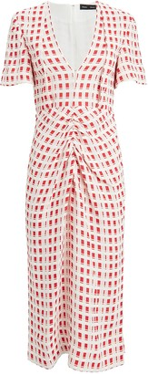 Proenza Schouler Checkered Jacquard Midi Dress