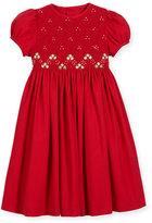 Luli & Me Smock Embroidered Dress, Size 2-6X