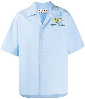Marni Storm Print Pocket Shirt