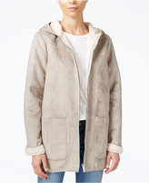 Sanctuary Hooded Faux-Shearling Coat