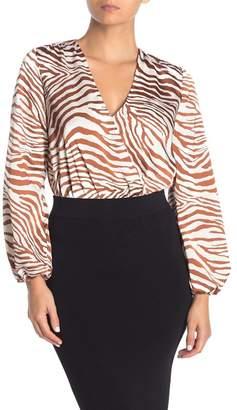 Lush Animal Stripe Draped Bodysuit