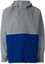 adidas panelled hooded jacket