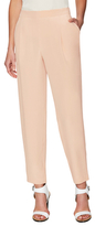 Lafayette 148 New York Silk Front Pleated Pull On Pant