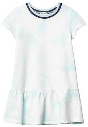 Splendid Littles Sweater Trim Dress (Toddler/Little Kids) (Tropical Sky) Girl's Clothing
