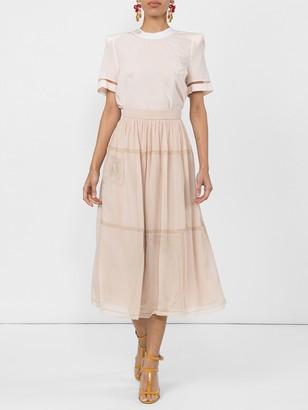 Fendi Polka Dot Midi Skirt
