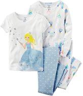 Carter's Girls 4-12 Glitter Princess Pajama Set