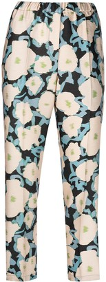 Christian Wijnants Floral-Print Slip-On Trousers