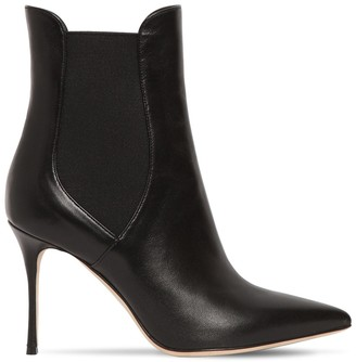 Sergio Rossi 90MM GODIVA LEATHER ANKLE BOOTS