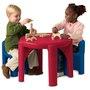 Little Tikes Table & Chairs Set-Primary Colors