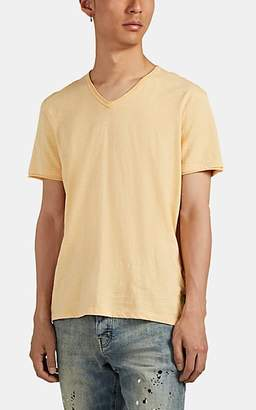 John Varvatos Men's Slub Cotton V-Neck T-Shirt - Yellow
