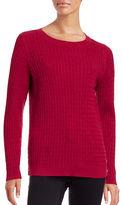 Karen Scott Petite Cable Knit Side-Button Sweater