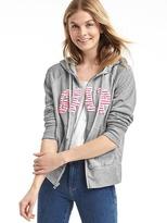 Gap Logo front-zip hoodie