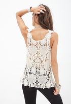 Forever 21 Floral Crocheted Top