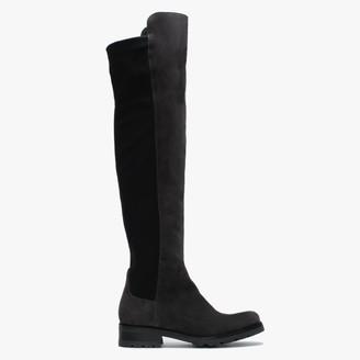Daniel Irwine Grey Suede Over The Knee Boots