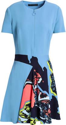 Versace Printed Crepe De Chine Mini Dress
