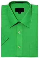 G-Style USA Men's Regular Fit Short Sleeve Solid Color Dress Shirts - 2XL/18-18.5