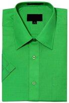 G-Style USA Men's Regular Fit Short Sleeve Solid Color Dress Shirts - L/16-16.5