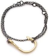 Miansai Sterling Silver Hook Wrap Bracelet