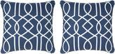 Miles Talbott Collection S/2 Balantine 19.5x19.5 Pillows, Indigo