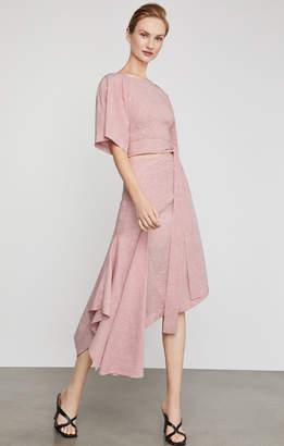BCBGMAXAZRIA Pinstripe Asymmetric Skirt