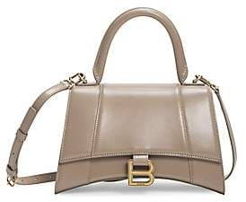 Balenciaga Women's Small Hourglass Leather Top Handle Bag