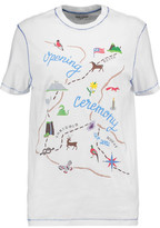 Opening Ceremony Embroidered Printed Cotton-Jersey T-Shirt