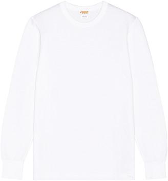 Visvim Sublig Ribs Long Sleeve Crewneck in White | FWRD