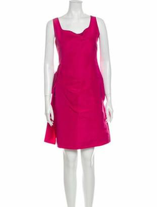 Oscar de la Renta Silk Mini Dress Pink