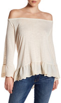 Sanctuary Juliette Off-the-Shoulder Long Sleeve Shirt