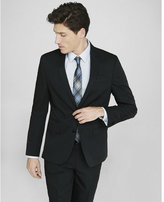 Express slim photographer black cotton sateen suit jacket