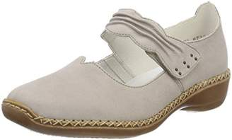 Rieker Women's 413G0 Closed Toe Ballet Flats, Grey (Staub 42)